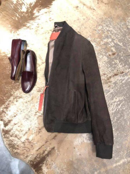 Nubuck Jacket Cognac